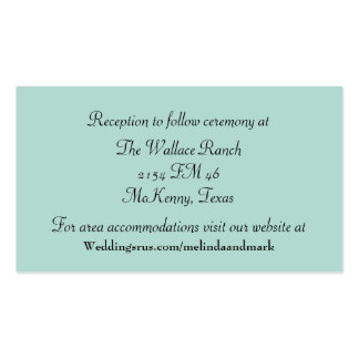 Mint Green and Chevron Wedding Enclosure Card Double-Sided Standard Business Cards (Pack Of 100)