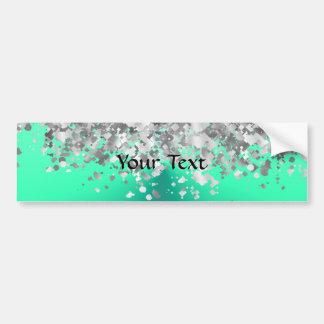 Mint green and faux glitter bumper sticker