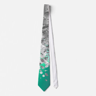 Mint green and faux glitter neck tie