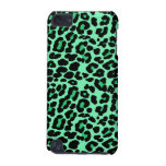 Mint Green and Jade Leopard Print Pattern iPod Touch (5th Generation) Covers