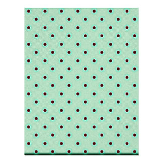 Mint Green And Light Brown Polka Dots Design Flyer