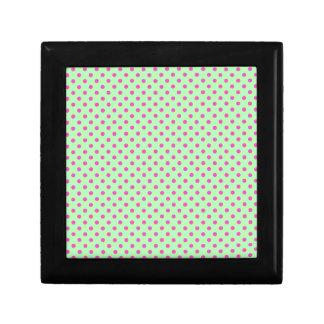 Mint Green and Pink Polka Dots Gift Box