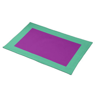 Mint Green and Purple Placemat