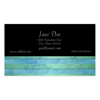 Mint Green and Tuquoise Pastel Stripes Pattern Double-Sided Standard Business Cards (Pack Of 100)