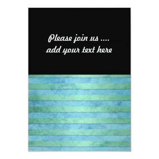 """Mint Green and Tuquoise Pastel Stripes Pattern 5"""" X 7"""" Invitation Card"""