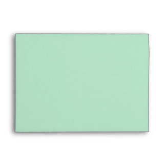 Mint Green and White Chevron Envelope