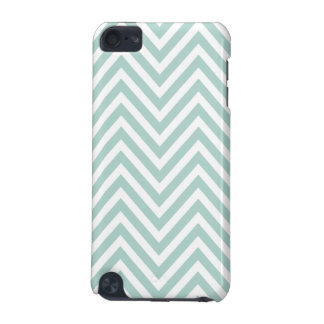 MINT GREEN AND WHITE CHEVRON PATTERN iPod TOUCH 5G CASES