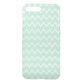 Mint Green and White Chevron Pattern iPhone 8 Plus/7 Plus Case