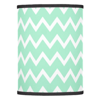 Mint Green and White Chevron Pattern Lamp Shade