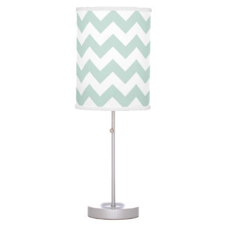 Mint Green and White Chevron Pendant Lamp