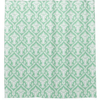 mint green shower curtains zazzle. Black Bedroom Furniture Sets. Home Design Ideas