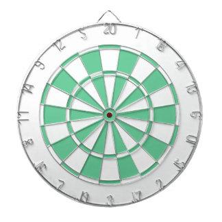 mint green and white dartboard