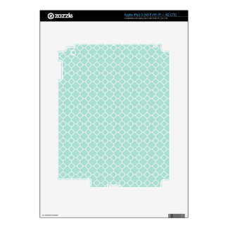 Mint Green and White Decal For iPad 3