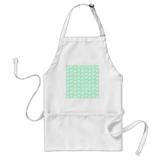 Mint Green and White Geometric Pattern. Adult Apron