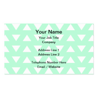 Mint Green and White Geometric Pattern. Double-Sided Standard Business Cards (Pack Of 100)