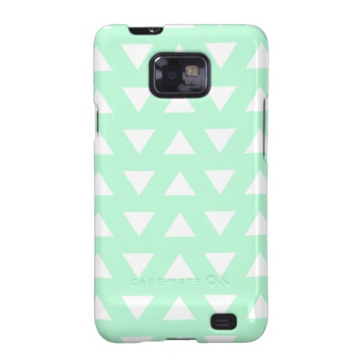 Mint Green and White Geometric Pattern. Samsung Galaxy SII Cover