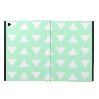 Mint Green and White Geometric Pattern. Case For iPad Air