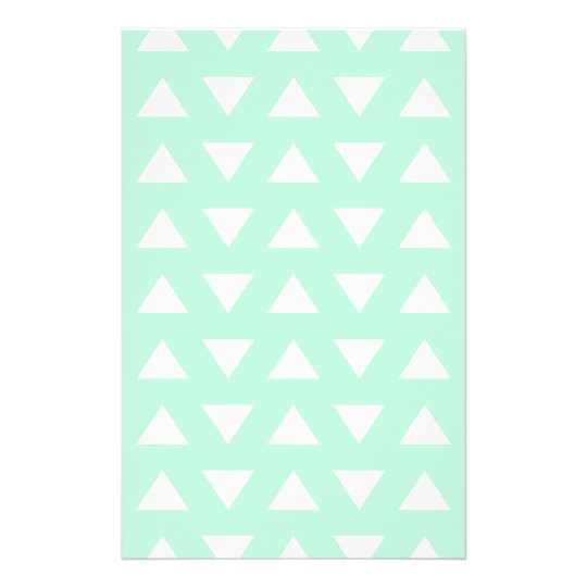 Mint Green and White Geometric Pattern. Flyer