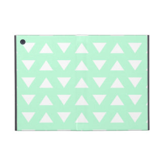 Mint Green and White Geometric Pattern. Case For iPad Mini