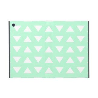 Mint Green and White Geometric Pattern. iPad Mini Cover