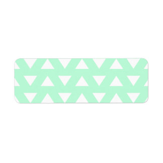 Mint Green and White Geometric Pattern. Label