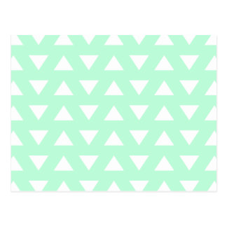 Mint Green and White Geometric Pattern. Postcard