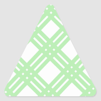 Mint Green and White Gingham Triangle Sticker