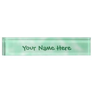 Mint Green and White Mottled Desk Name Plate