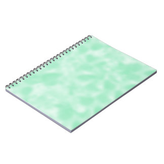 Mint Green and White Mottled Notebook
