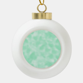 Mint Green and White Mottled Ornament