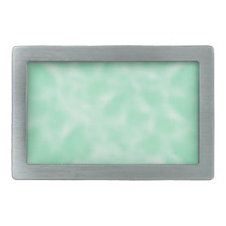 Mint Green and White Mottled Rectangular Belt Buckle