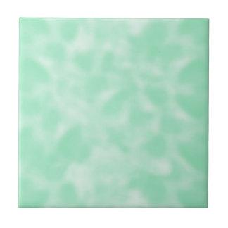 Mint Green and White Mottled Tile