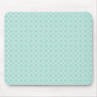 Mint Green and White Mouse Pad