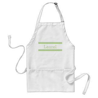 Mint Green and White Personalized Adult Apron