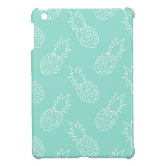 Mint Green and White Pineapple Pattern iPad Mini Case