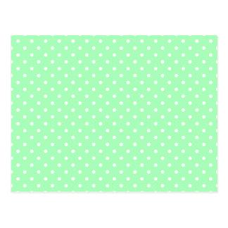 Mint Green and White Polka Dot Postcard