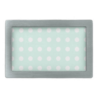 mint green and white polka dots belt buckle