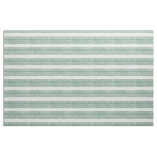 Mint Green and White Striped Fabric