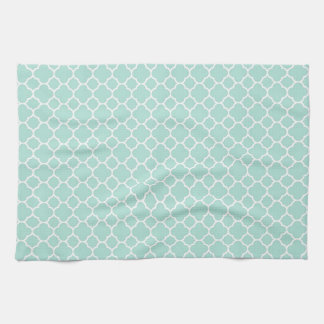 Mint Green and White Towel