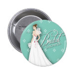 Mint Green and White Vintage Bridal Shower Pin