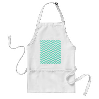 Mint Green And White Waves Apron