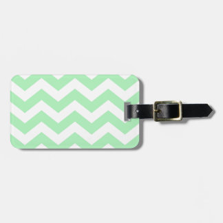 Mint Green and White Zigzags Bag Tag