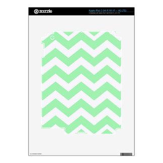 Mint Green and White Zigzags iPad 3 Skin