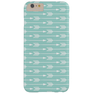 Mint Green Arrows Pattern Barely There iPhone 6 Plus Case