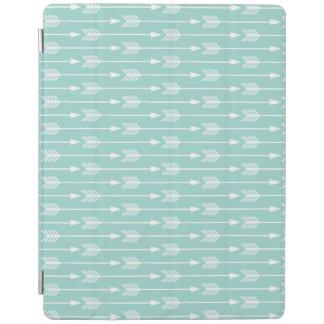 Mint Green Arrows Pattern iPad Smart Cover