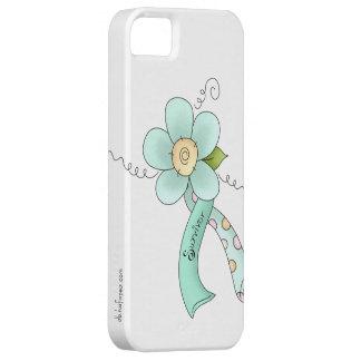 Mint Green Awareness Ribbon & Flower Survivor iPhone SE/5/5s Case