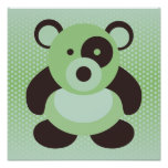 Mint Green Baby Panda Bear Posters
