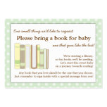 Mint Green Baby Shower Book Insert Request Card Large Business Cards (Pack Of 100)