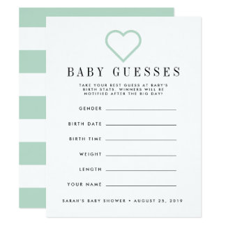 baby shower guessing invitations announcements zazzle