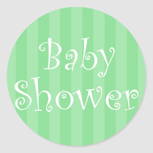 mint green baby shower sticker zazzle